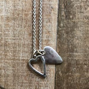 Simple, Stunning Silver plated heart necklace
